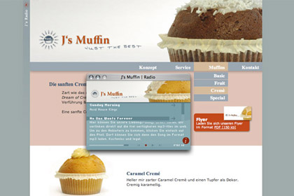 webdesign berlin js muffin website
